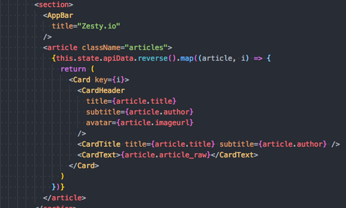 Using Zesty.io Headless CMS with React article image.