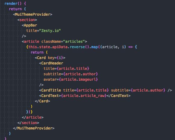 Using Zesty.io Headless CMS with React image